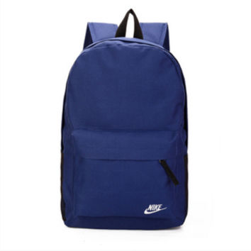 """Nike"" Sport Hiking Backpack College School Travel Bag Day pack Dark blue"