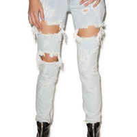 One Teaspoon Trashed Freebirds Jeans Saint