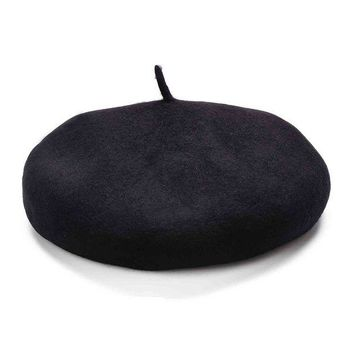 DCK4S2 Lawliet Womens French artist 100% Wool Beret Flat Cap Winter Warm Painter Hat Y63