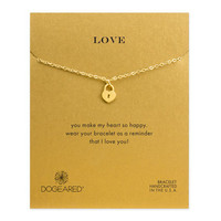 love locket heart bracelet, gold dipped - Dogeared