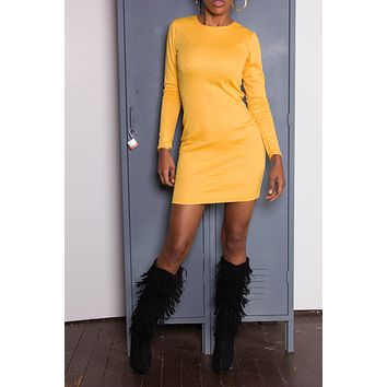 Yellow Cotton iAMMI Mini Dress SMALL