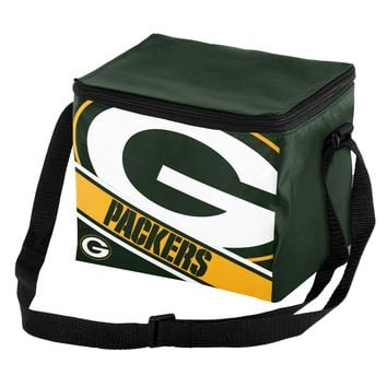 NFL Green Bay Packers Big Logo Striped 6 pack Cooler Lunch Box Bag Insulated