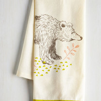 Woodland Creature All Good in the Woods Tea Towel in Bear by ModCloth