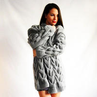 winter sweater fashion Grey oversized by orchideaboutique on Etsy