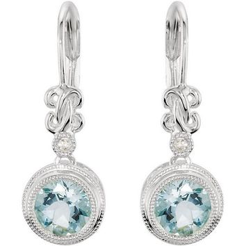 Ben Garelick Vintage Style Dangle Aquamarine Earrings