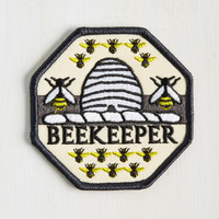 Keeper of Bees Patch | Mod Retro Vintage Pins | ModCloth.com