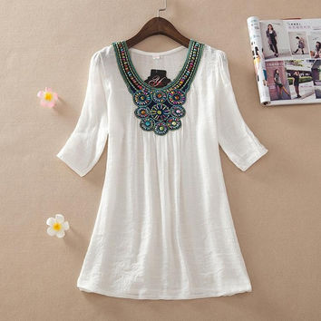 New summer embroidery female casual dress women style casual femininos 2016 clothing vestidos de festa maxi white lace dresses