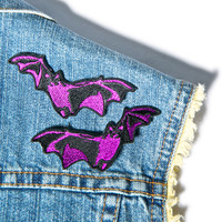 Hollywood Mirror Double Trouble Bat Patch Set Purple One