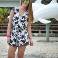 Palm Trees and Summer Breeze Romper