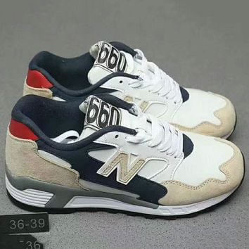 New Balance Fashion Casual Sport Running Breathable Couple Sneakers Shoes Beige+black G Xyxy Ftq