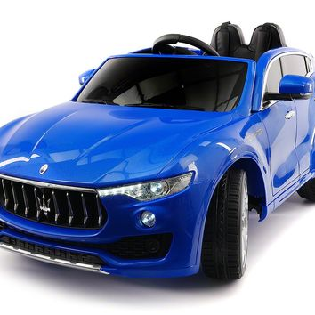 MASERATI LEVANTE 12V KIDS RIDE-ON CAR WITH R/C PARENTAL REMOTE | BLUE