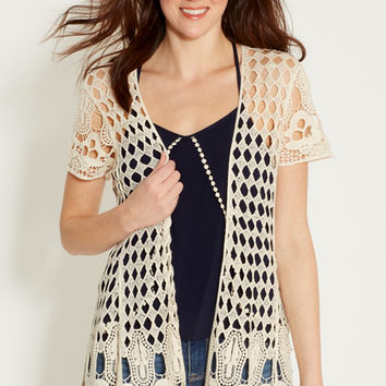 open crocheted cardigan | maurices