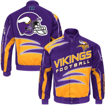 Minnesota Vikings Shred Cotton Twill Jacket – Purple