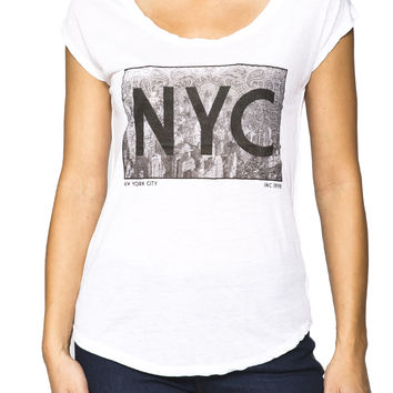 Girls 'NYC Bandana' Graphic Tee