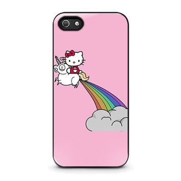 hello kitty unicorn iphone 5 5s se case cover  number 1