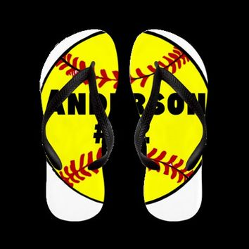 Personalized Softball Flip Flops on CafePress.com