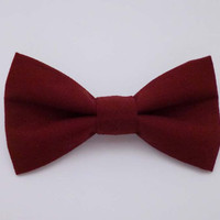 Burgundy Clip on Bow Tie - Mens, Childrens, Womens Sizes