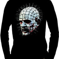 Pinhead Hellraiser Men's Long Sleeve T-Shirt Clive Barker Horror Cenobite