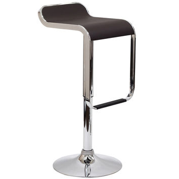 LEM Bar Stool in Brown Vinyl