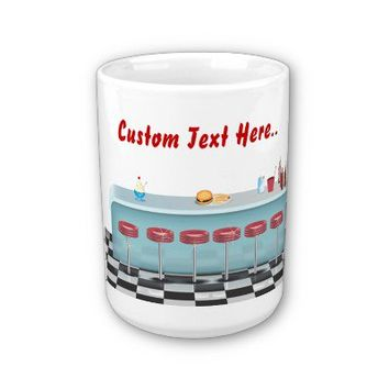 All American Diner Restaurant Coffee Mugs from Zazzle.com
