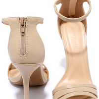 Brand New Day Natural Ankle Strap Heels