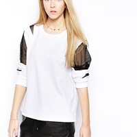 Edit Mesh Detail Sweatshirt
