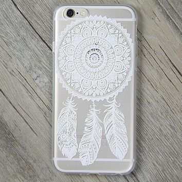 Lace Feather Cover Case for iPhone 5s 5se 6 6s Plus Gift + Gift Box-170928