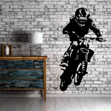 Vinyl Decal Motocross Motorcycle Bike Biker Decor Wall Stickers (z2275)