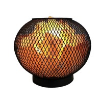Natural Himalayan Pink Salt Lamp Basket