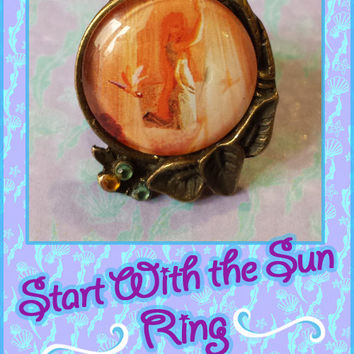 Start With the Sun- Adjustable ring of Rapunzel (Tangled).