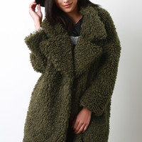 Oversize Curly Faux Fur Coat | UrbanOG