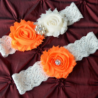 Elegant Wedding Garter, Lace Wedding Garter, Heirloom Garter, Bridal Garter Set