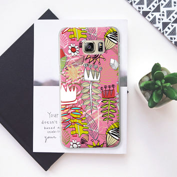 wired weed rose pink Samsung Galaxy S6 Edge+ case by Sharon Turner | Casetify