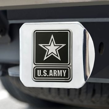 "Army Chrome Hitch Cover 4 1/2""x3 3/8"""