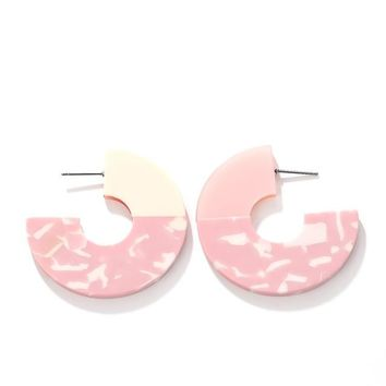 Pink Life Acrylic Tortoiseshell Earrings