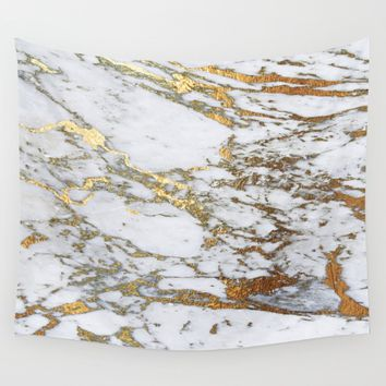 Gold Marble Wall Tapestry by Jenna Davis Designs