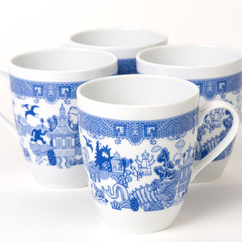 Calamityware Set of 4 Mugs