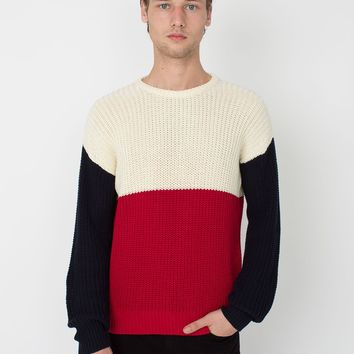 rsakwfpcb - Color Block Fishermans Pullover