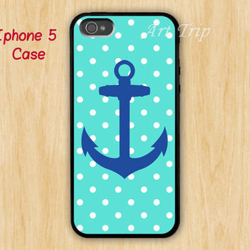 iPhone 5 Case -- anchor iPhone 5 Case, Nautical Anchor, navy blue anchor Pattern Print iPhone 5 Case, graphic iphone 5 case, SALE