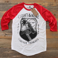 TFFT 3/4 Sleeve Raglan Fire Red