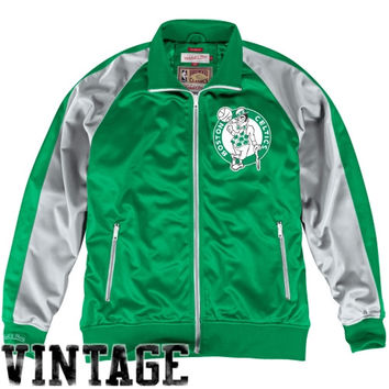 Mitchell & Ness Boston Celtics Backboard Full Zip Track Jacket - Kelly Green