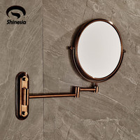"Rose Gold Mirror Beauty Makeup Mirror Dual Sides Round Mirror Magnifying Mirror 8"" Sides"