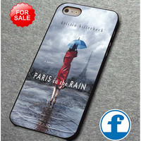 Novel PARIS in the RAIN for iphone, ipod, samsung galaxy, HTC and Nexus Phone Case