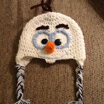Olaf from Frozen Crochet Beanie - all sizes - made to order