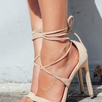 Jocelyn Lace Up Heel