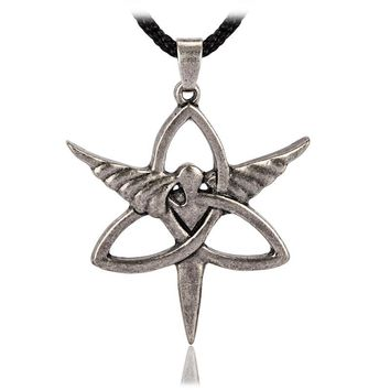 Jewelry Trinity Angel Celtic Knot Pendant Necklace