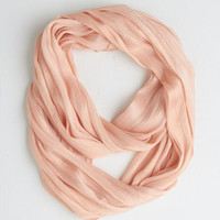 ModCloth Pastel Brighten Up Circle Scarf in Blush