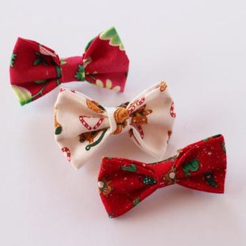Small Christmas Bow Gift Pack | Red Hair Bow Pack | Christmas Clips | Christmas Gift Bundle | Christmas Accessories | Holiday Bows
