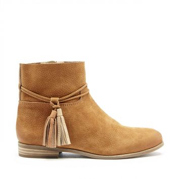 Lucky Brand Gloriana Flat Leather Bootie