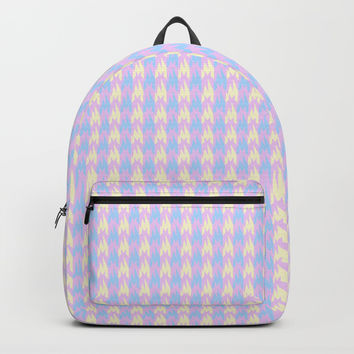 Pastel Houndstooth Backpacks by Sofies Shoppe